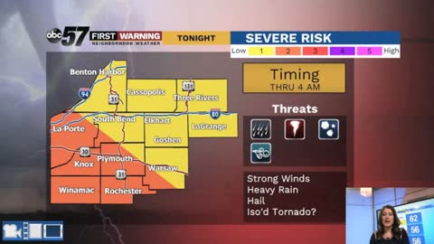 Tracking rain and the chance of strong to severe storms