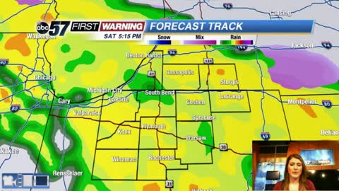 Tracking rain, wind and a warm up for Saturday