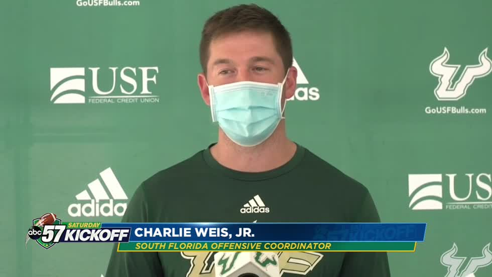 USF's Charlie Weis Jr grew up on the sidelines at Notre Dame