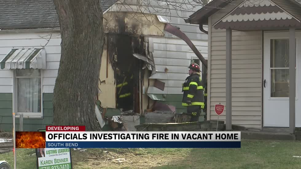 Vacant home on Luelde Street damaged by fire