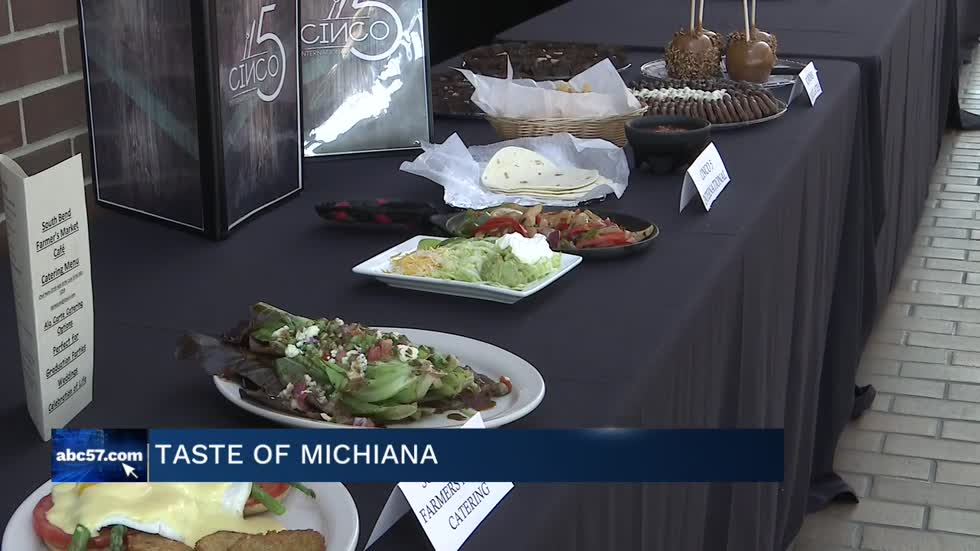 Vendors get ready for the Taste of Michiana