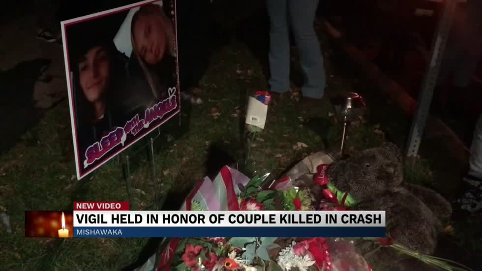 Vigil held for Mishawaka crash victims