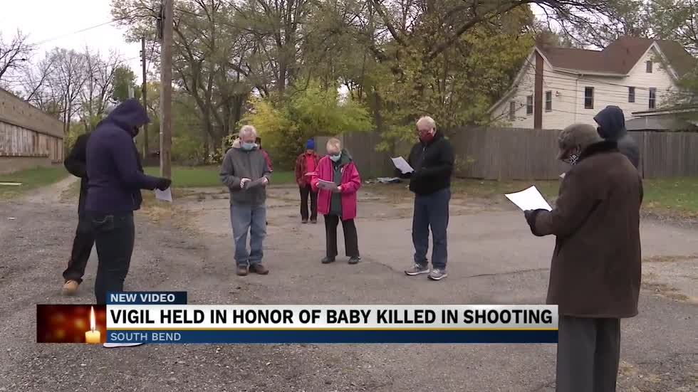 A vigil held for one-year-old who was accidently killed in June