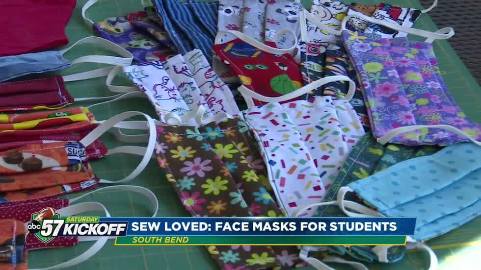 Volunteers sew thousands of face masks for South Bend students