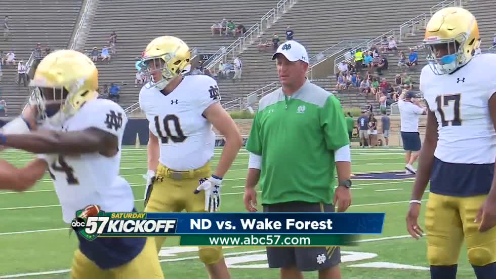 Wake Forest game serves as reunion for Notre Dame's Mike Elko