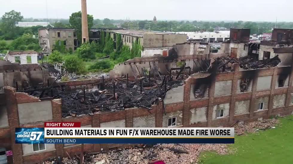 Warehouse that burned down Friday, has a history