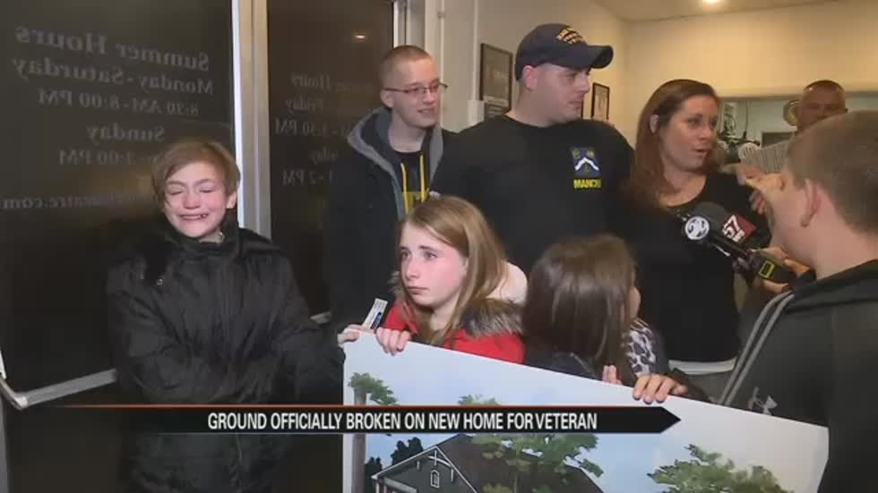 Warsaw veteran and family surprised with new home officially break ground