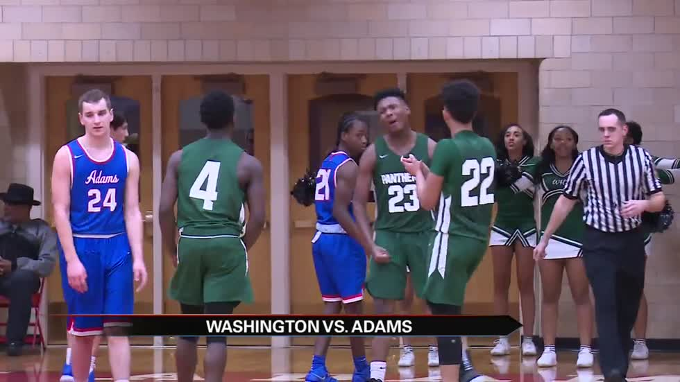Washington tops Adams in cross-town hoops battle
