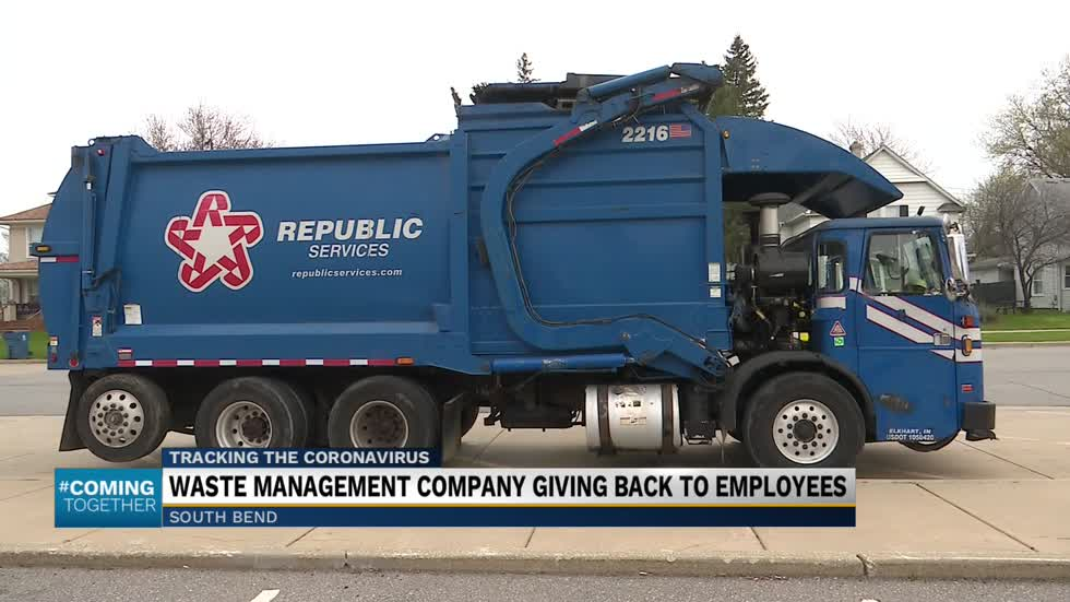 Waste disposal company is giving back to its employees during COVID-19