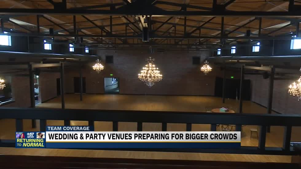 Wedding & party venues preparing for bigger crowds