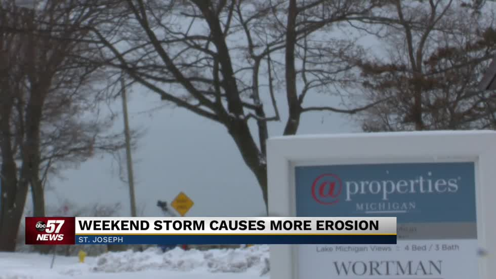 Lake erosion affecting property values in Berrien County