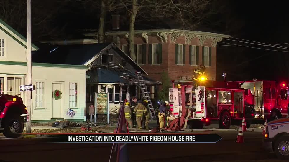 White Pigeon fire kills pregnant woman and 7-year-old boy