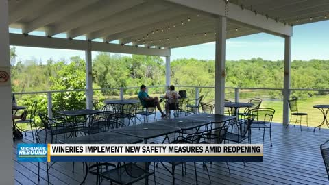 Wineries reopen with new safety measures