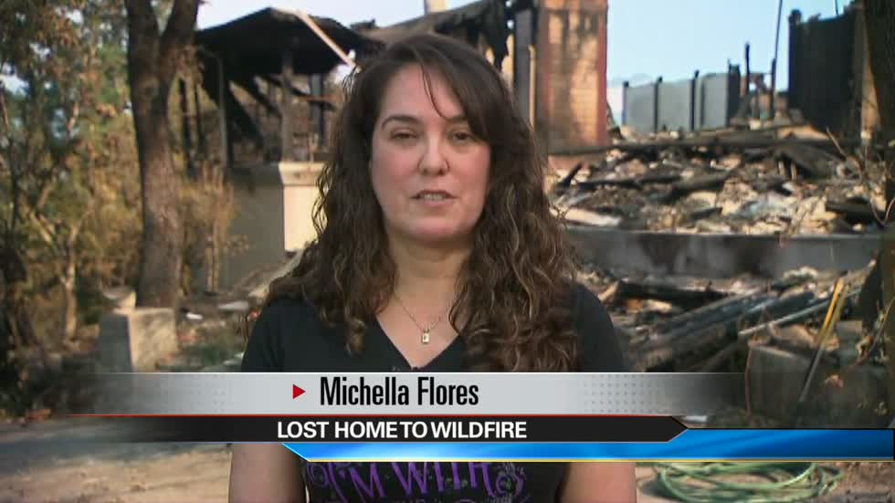 Woman at Las Vegas shooting loses California home to wildfires