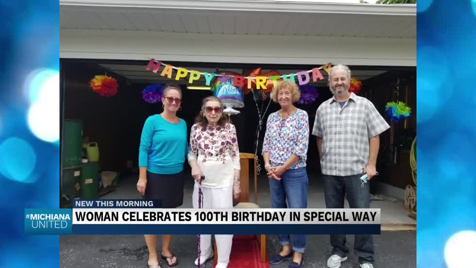 Woman celebrates 100th birthday in a special way