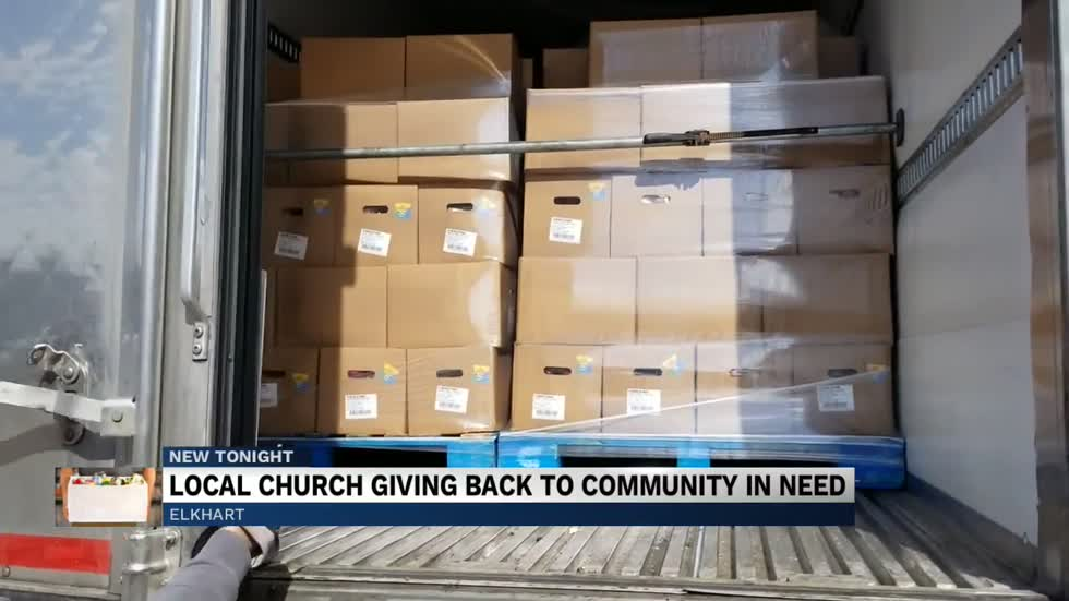 World Harvest Church Elkhart giving away 40,000 pounds of food...