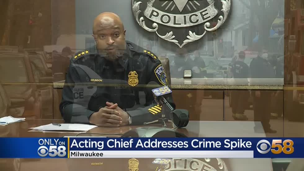 Acting Police Chief Michael Brunson discusses priorities; increase in Milwaukee homicides