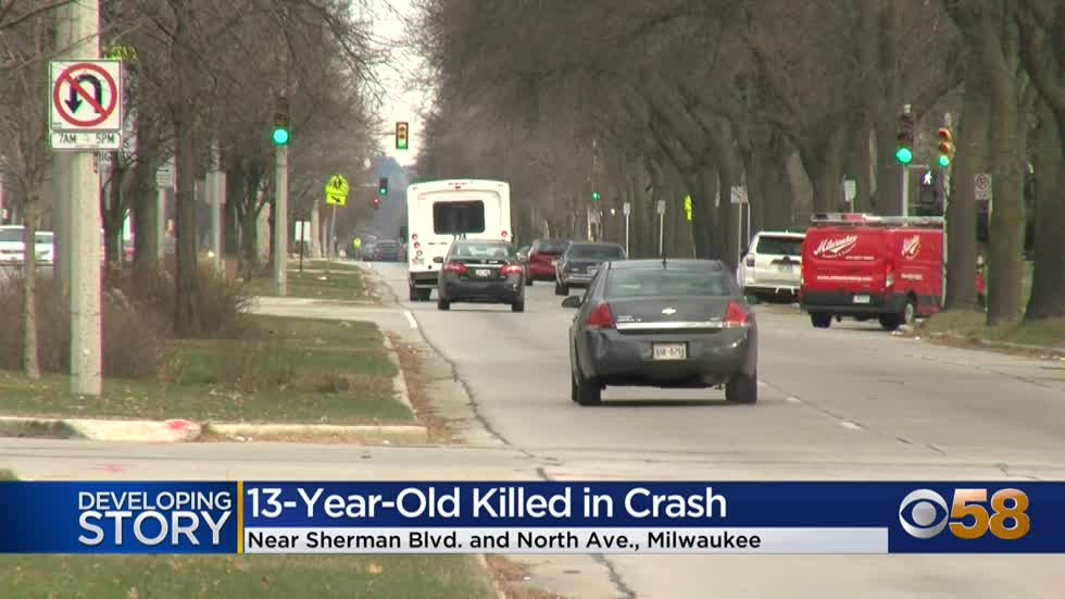 13-year-old boy dies in crash near Sherman and North