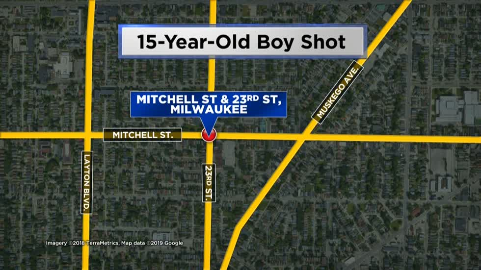 15-year-old shot near 23rd and Mitchell