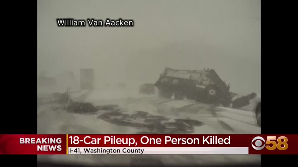 'Worst I've ever seen': 1 dead in massive pileup on Wisconsin...
