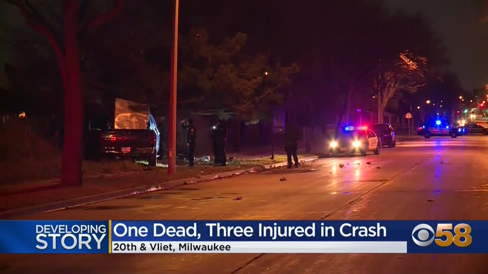 1 killed, 3 hurt in crash near 20th and McKinley