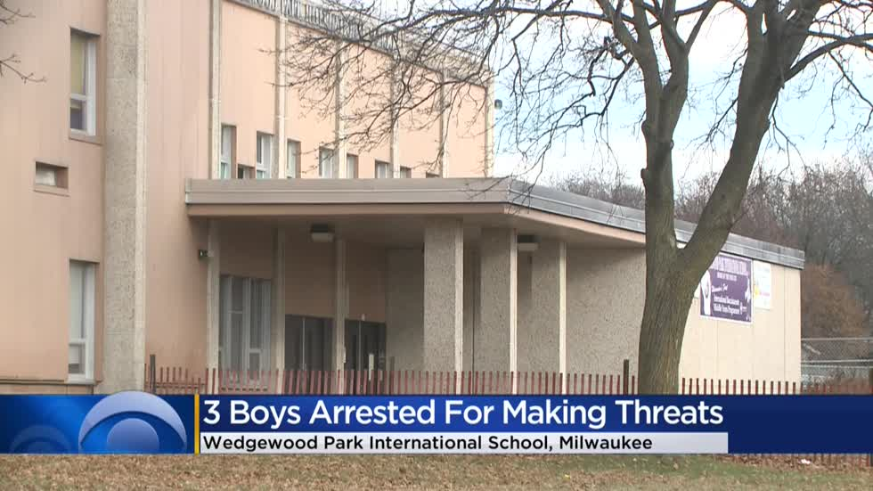 Milwaukee police arrest boys ages 12, 13 and 14 for making terrorist threats to south side school