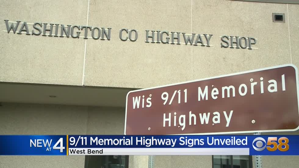 Signs unveiled for 9/11 Memorial Highway in Washington County