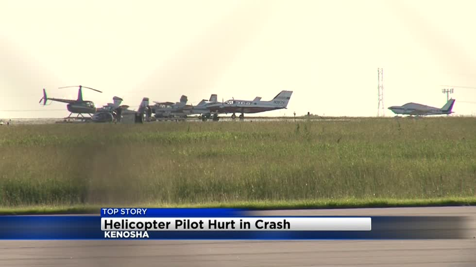 One injured in helicopter crash at Kenosha County Airport