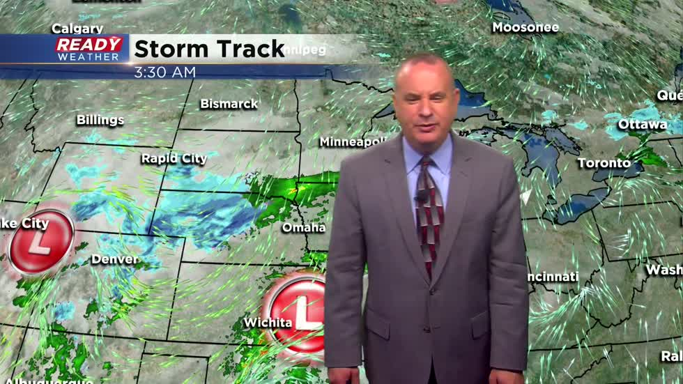 Showery weather gets more steady the next few days