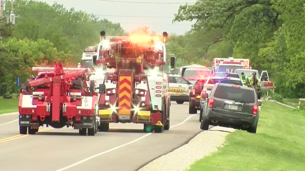 21-year-old man dead, two students injured after van hits Kenosha County school bus