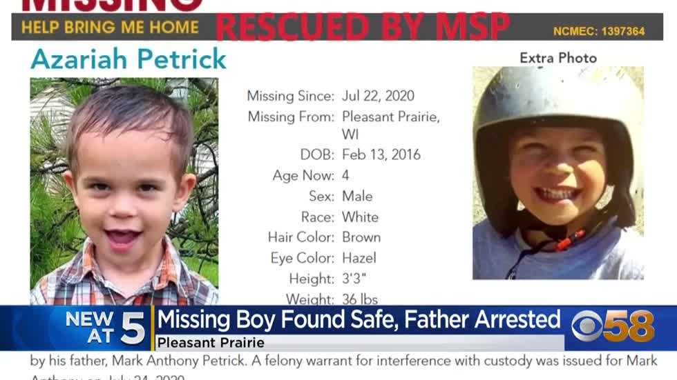 Abducted 4-year-old Wisconsin boy found safe in Michigan after...