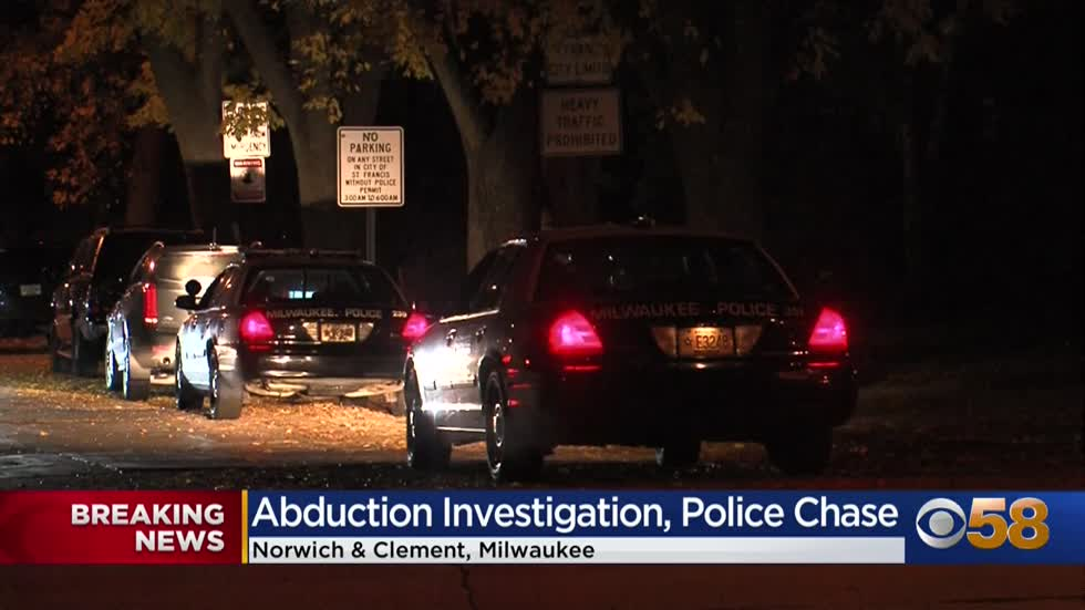 Suspected abduction leads to police pursuit on Milwaukee's south side