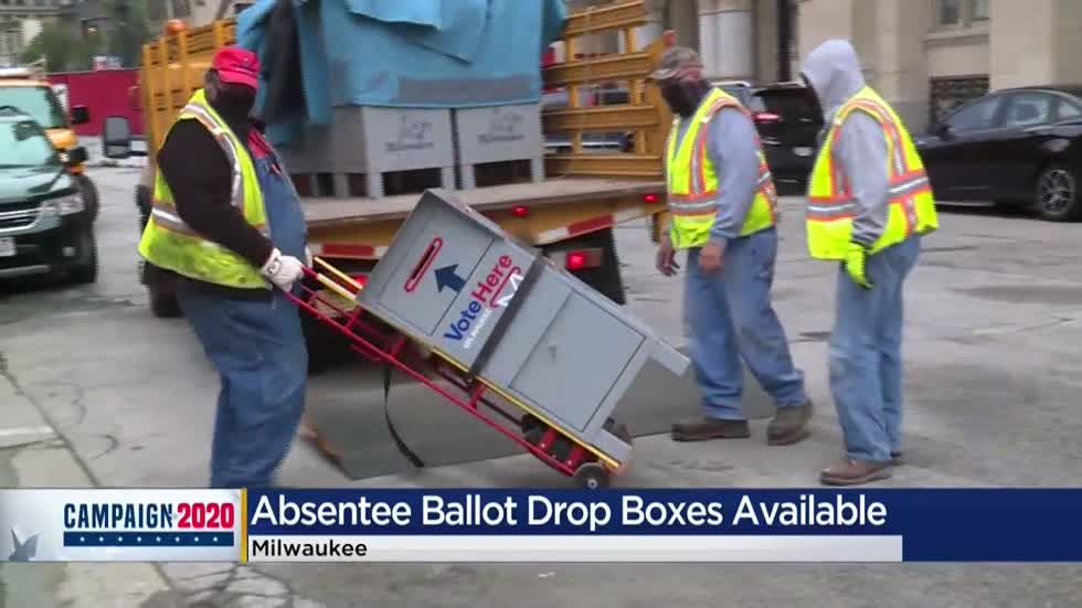 Milwaukee installs 24-hour absentee ballot boxes throughout city
