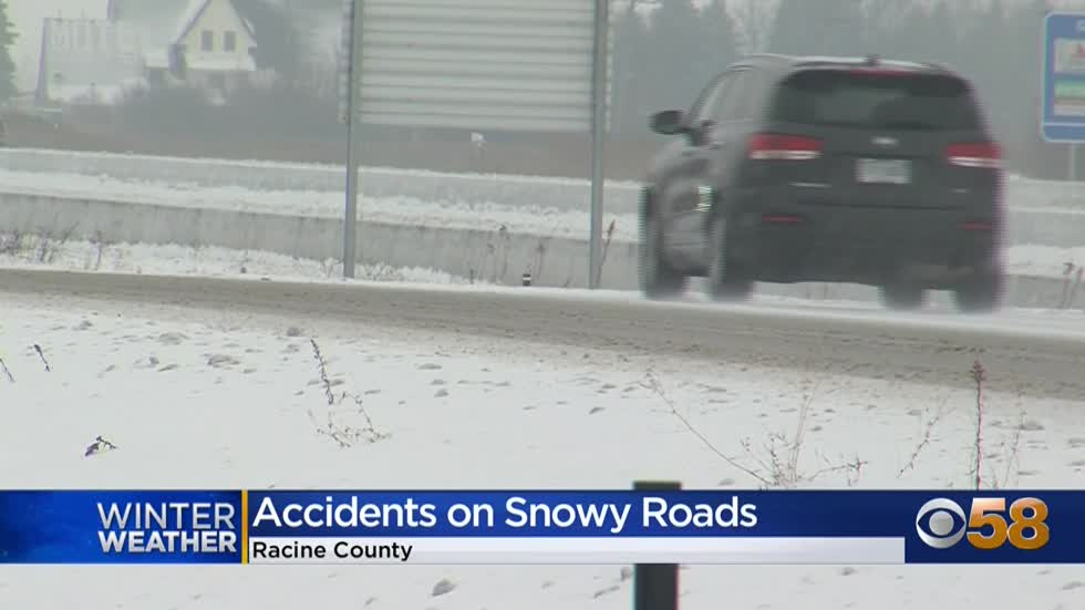 Officials urge precaution on 'icy, slippery' roads after multi-vehicle crash on I-94 in Racine County