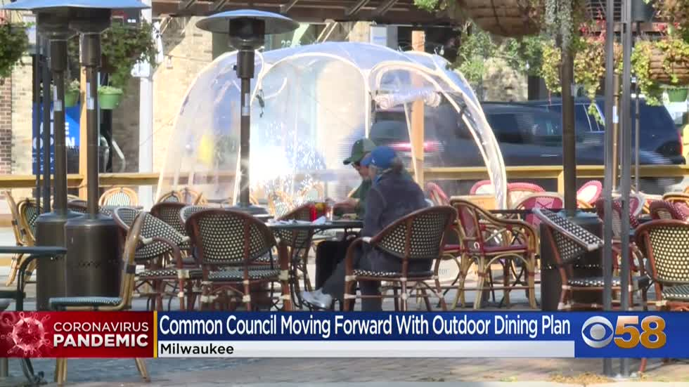 Plan moves forward to help restaurants provide outdoor dining...