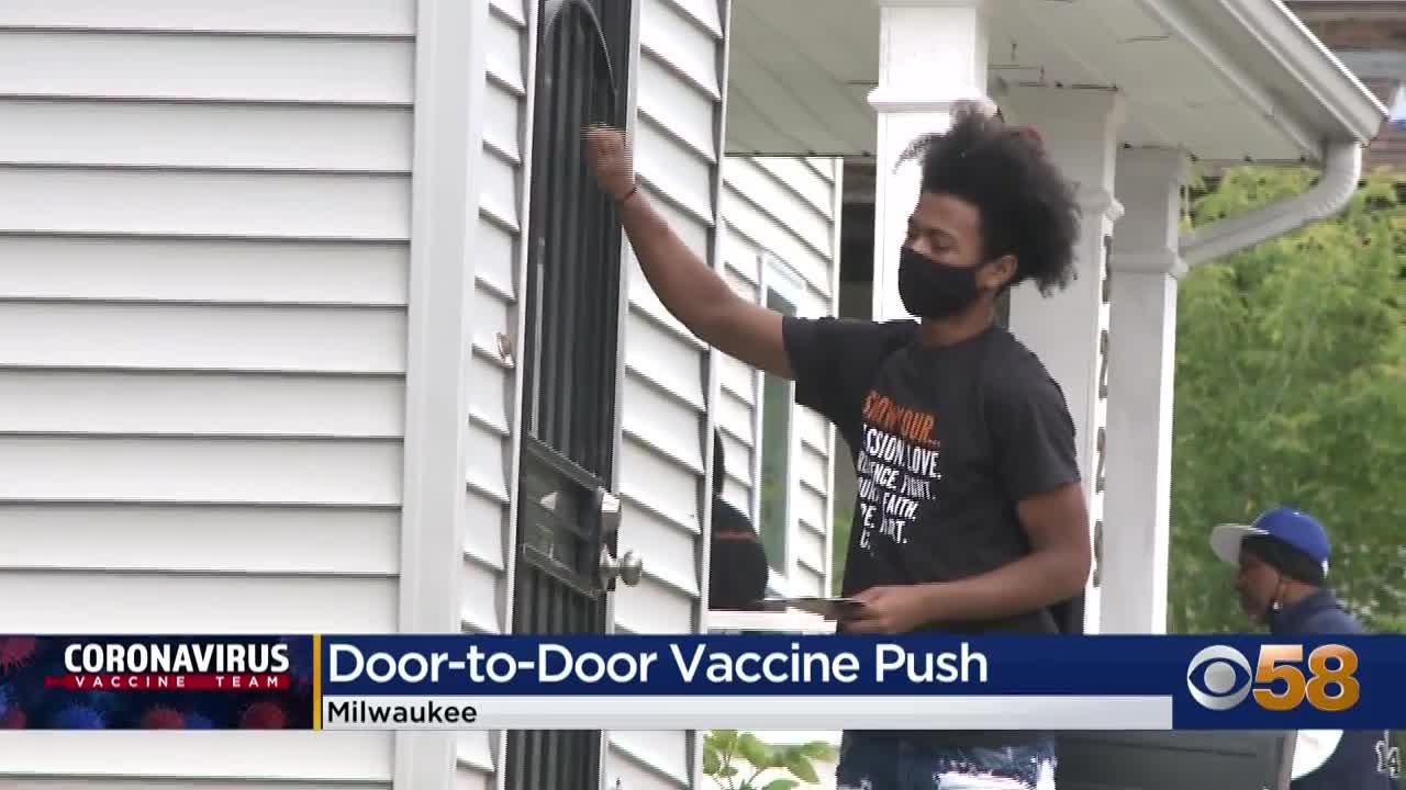 USA-Milwaukee besucht nun die Bürger zu Hause, um sie zur Impfung zu überzeugen