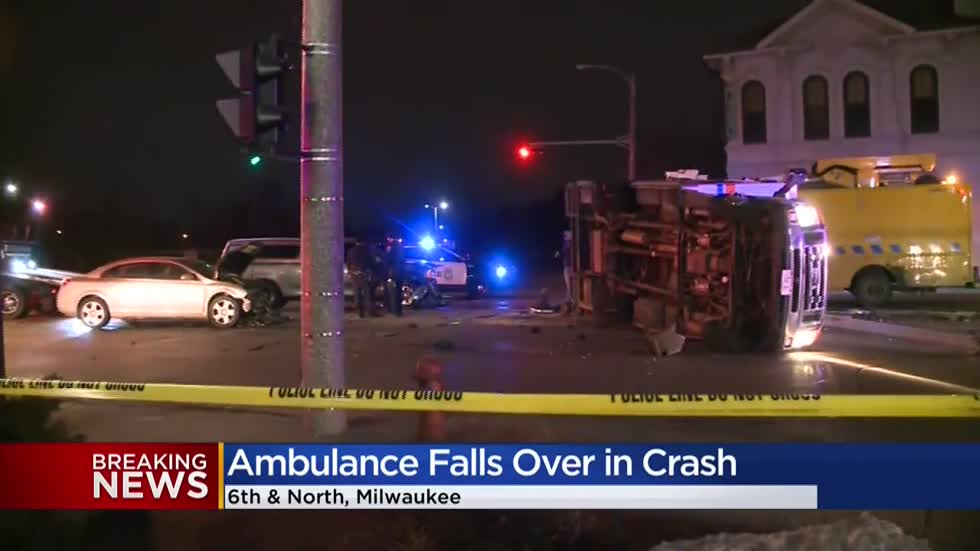 MFD: Ambulance involved in accident near 6th and North, 3 hospitalized