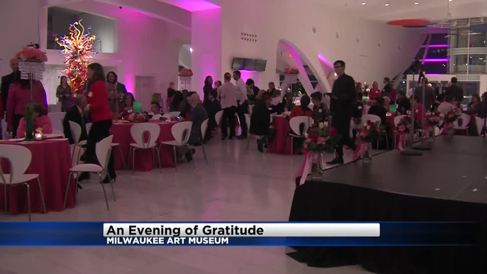 An evening of gratitude as breast cancer survivors thank the donors and sponsors who raise money for Komen of Wisconsin