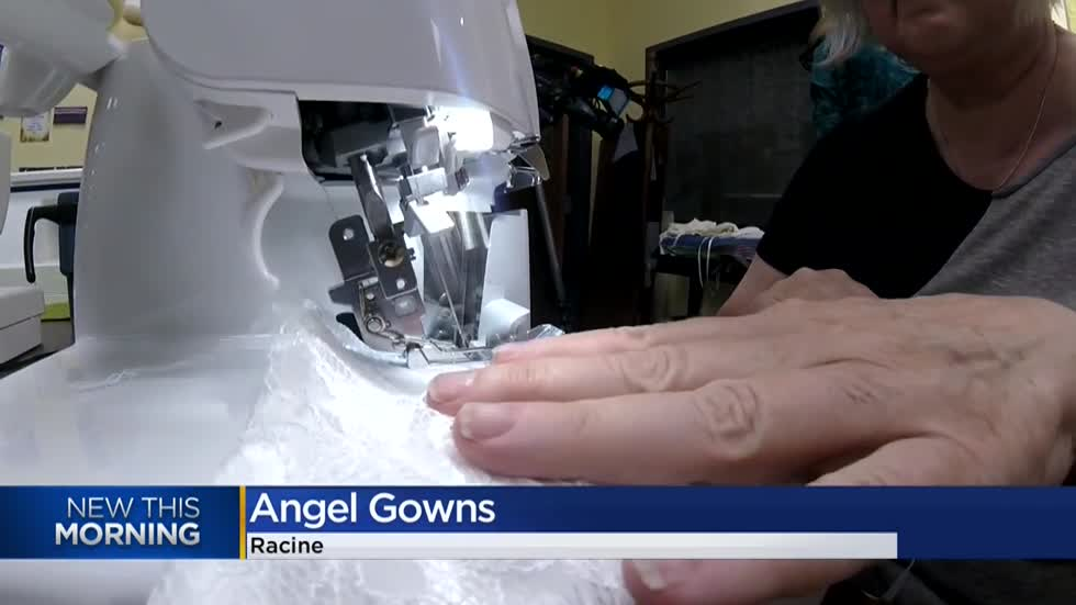 Volunteer group creates Angel Gowns for families dealing with the loss of an infant
