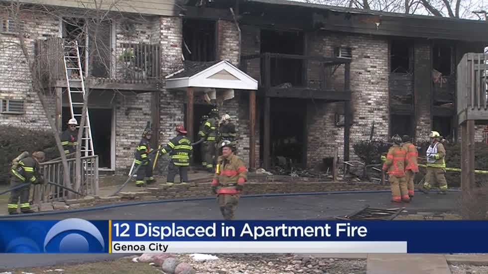 8 families displaced, firefighter injured after fire starts at Genoa City apartment building