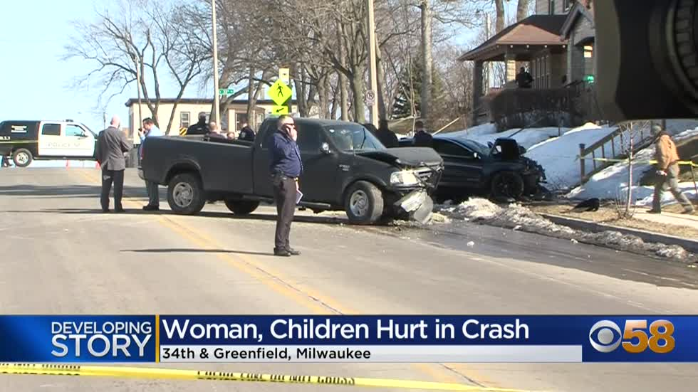 Woman, child and baby seriously hurt when speeding driver crashes...