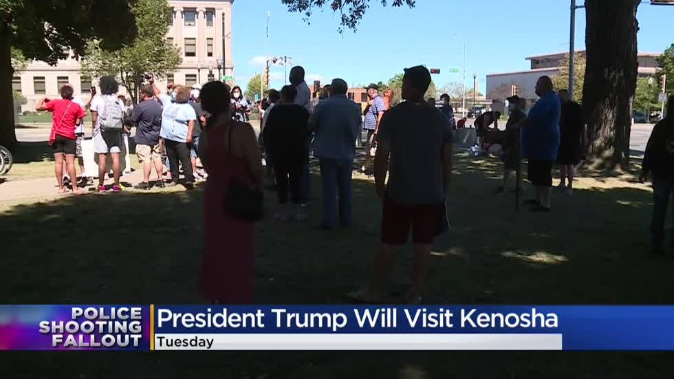 Back the Blue supporters glad Trump is coming to Kenosha, but local leaders say it's 'not ideal'