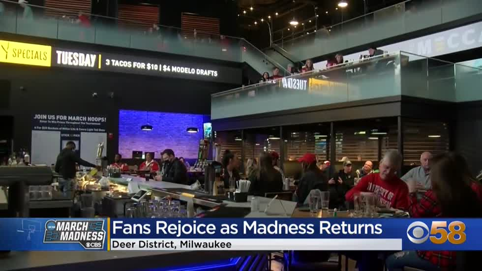 'Glad to be back': Badgers fans rejoice as March Madness returns to Deer District