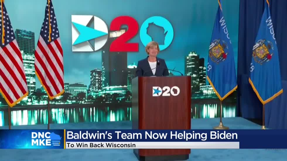 DNC Day 4: How Joe Biden is taking a page from Tammy Baldwin's playbook in his Wisconsin campaign