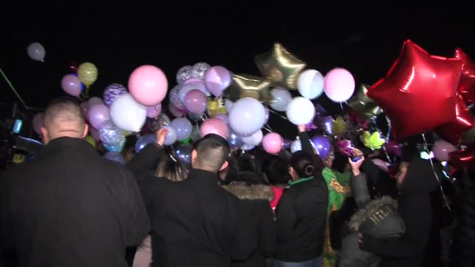 Balloon release held to remember three people, including 2-year-old girl killed in New Year's Eve crash