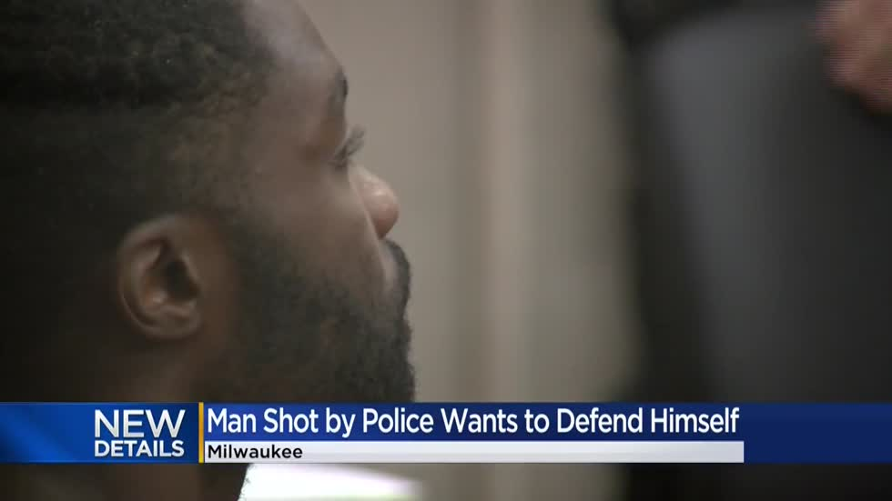 Man shot after pointing gun at officers wants to represent himself in court