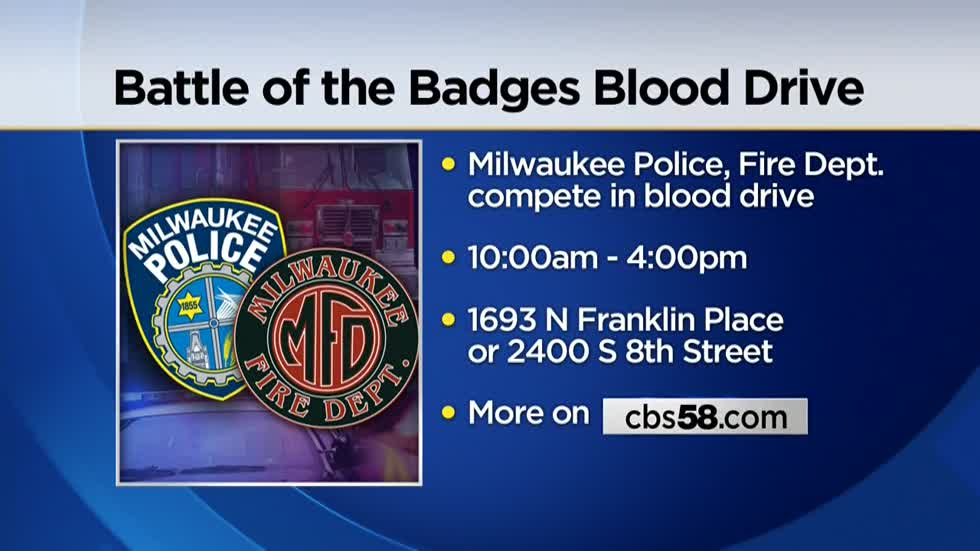 Red Cross to host annual Battle of the Badges Blood Drive in Milwaukee