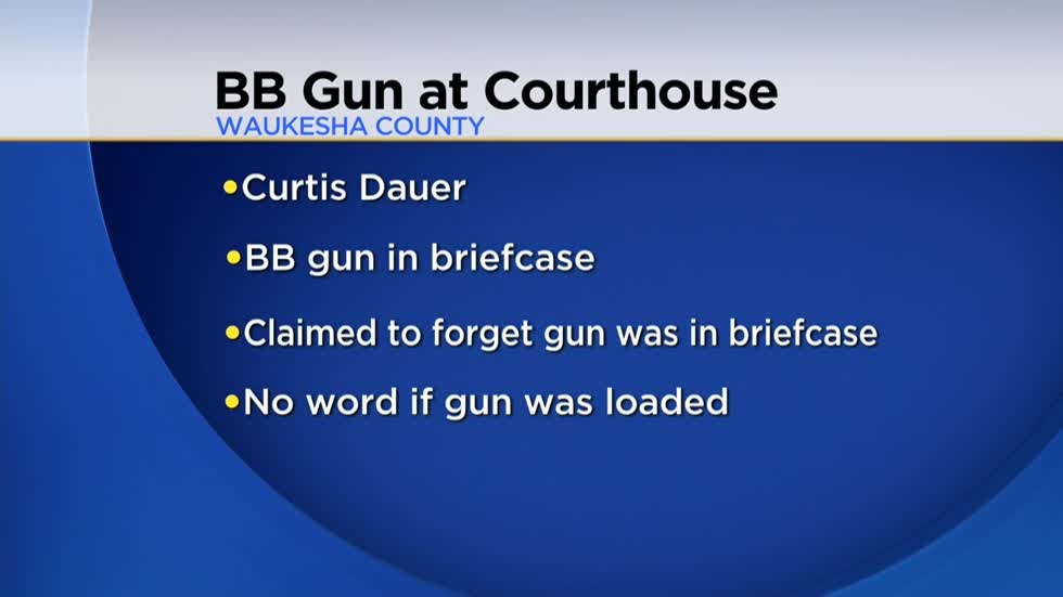 Man charged after bringing BB gun to Waukesha County Courthouse in briefcase