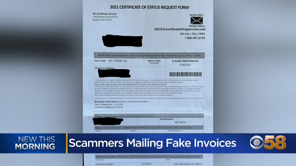 BBB Wisconsin, Wisconsin DFI warn businesses of misleading solicitations