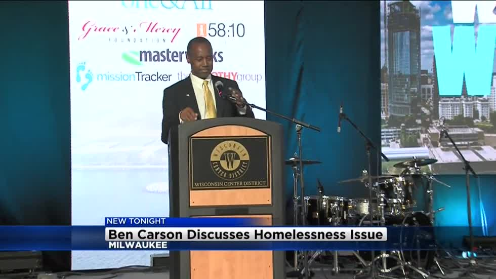 Ben Carson discusses homelessness issue during convention in Milwaukee